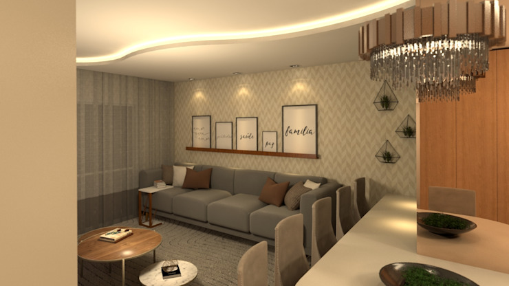 Living room by Revisite, Modern