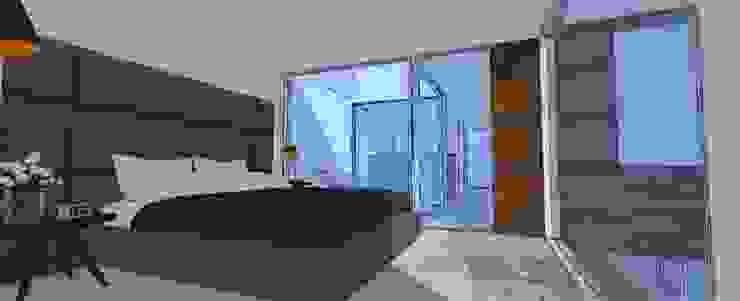 recamara de BOKEH ARQUITECTURA Minimalista Concreto