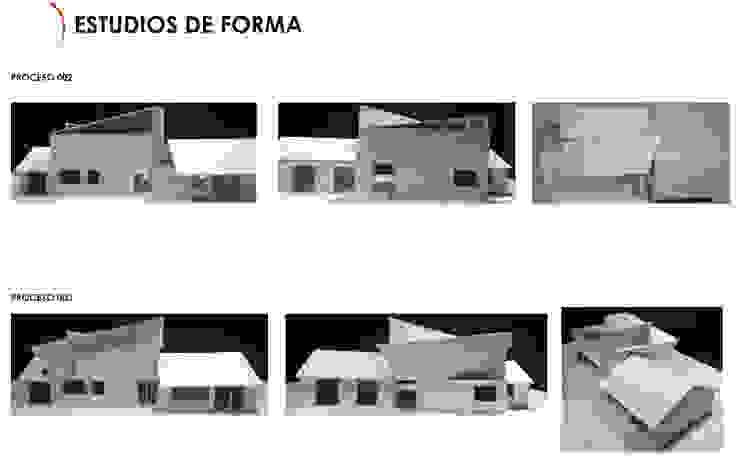 Estudio de Forma Ampliación Casa La Reina, Santiago de Latitud Sur Moderno