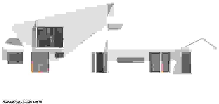 Estudio de Fachadas Ampliación Casa La Reina, Santiago de Latitud Sur Moderno