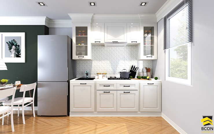 ห้องครัวขนาดเล็ก: คลาสสิก  โดย Bcon Interior, คลาสสิค
