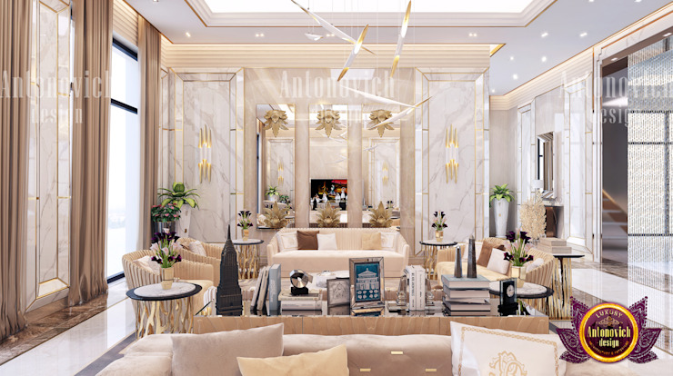 Living Room That Will Suit Your Style by Luxury Antonovich Design