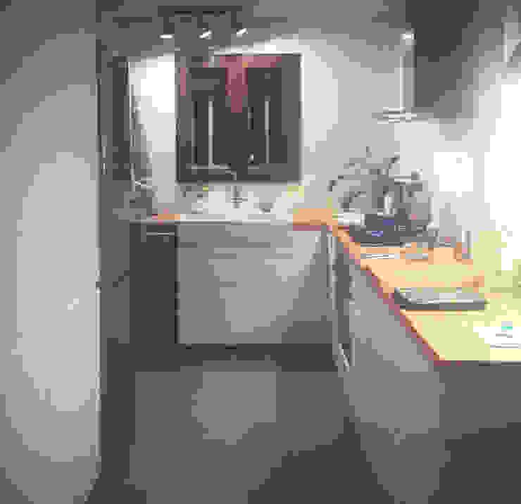 La cocina, el hogar de la casa. Estudio1403, COOP.V. Arquitectos en Valencia Cocinas equipadas