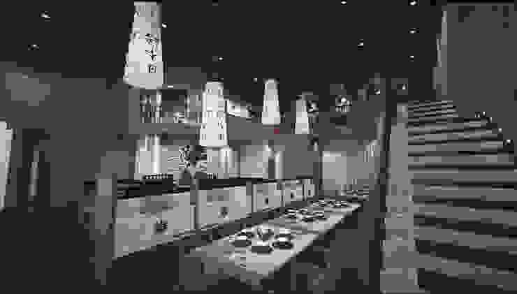 Área de comidas GA Experimental Gastronomía de estilo asiático Madera Beige