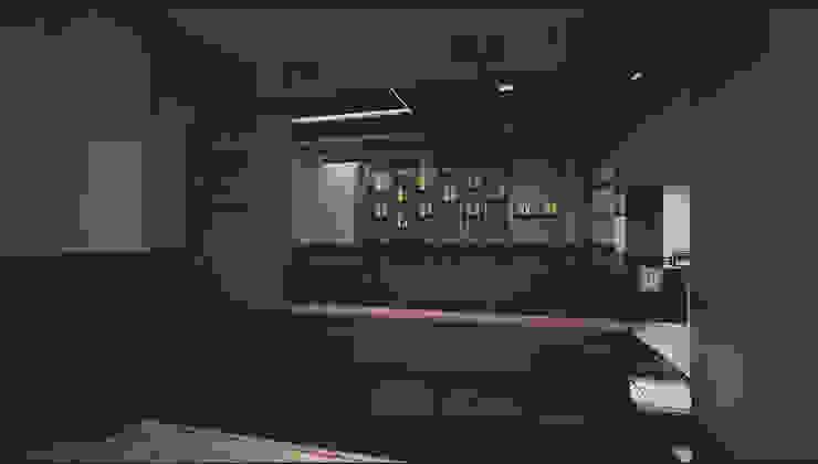 Barra del bar GA Experimental Gastronomía de estilo asiático Marrón