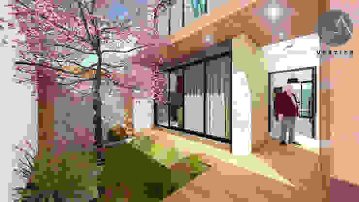 Vestíbulo Pasillos, vestíbulos y escaleras minimalistas de Vértice Arquitectos Minimalista Concreto