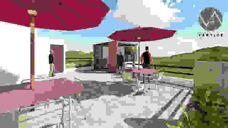 Terraza de Vértice Arquitectos Minimalista Azulejos