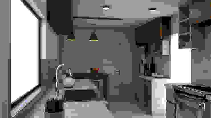 Remodelación de Cocina.: Cocinas pequeñas de estilo  por Miguel Mayorga