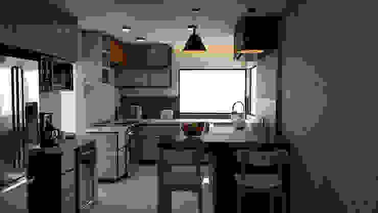 Remodelación de Cocina.: Cocinas pequeñas de estilo  por Miguel Mayorga,