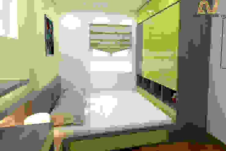 Thiết kế nội thất căn hộ 3 phòng ngủ - Mipec, Kiến Hưng bởi An Viet Trading and Interior Service Joint Stock Company