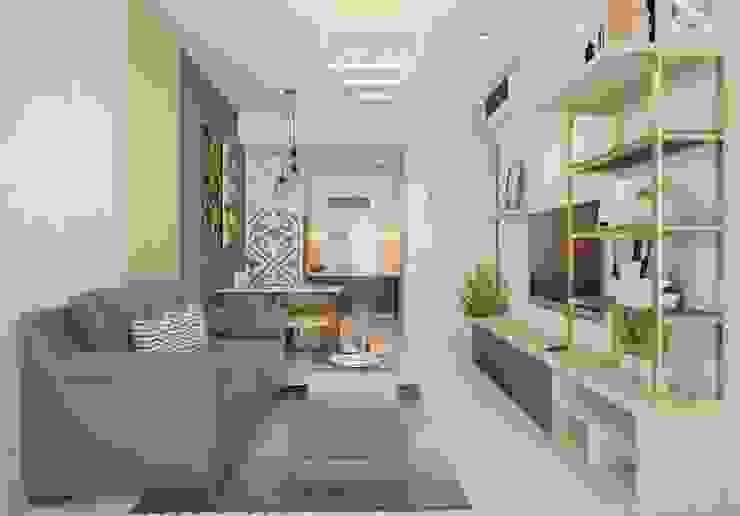 Thiết Kế 3D - Căn Hộ 3 PN Golden Mansion: hiện đại  by Deco Việt, Hiện đại
