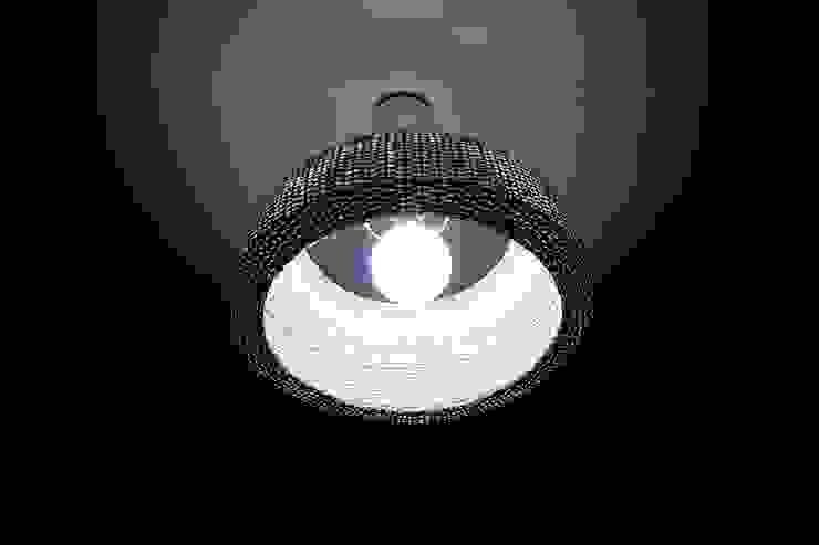 Lámpara modelo domo de ELMIMBRE Spa - Diseño, Fabricación y Comercialización de productos en Mimbre - Región Metropolitana - Chile Minimalista Ratán/Mimbre Turquesa