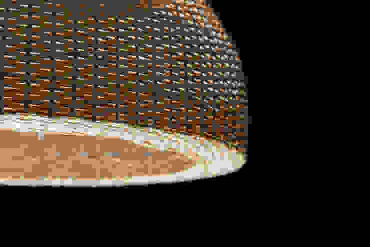 Lámpara modelo domo de ELMIMBRE Spa - Diseño, Fabricación y Comercialización de productos en Mimbre - Región Metropolitana - Chile Moderno Ratán/Mimbre Turquesa