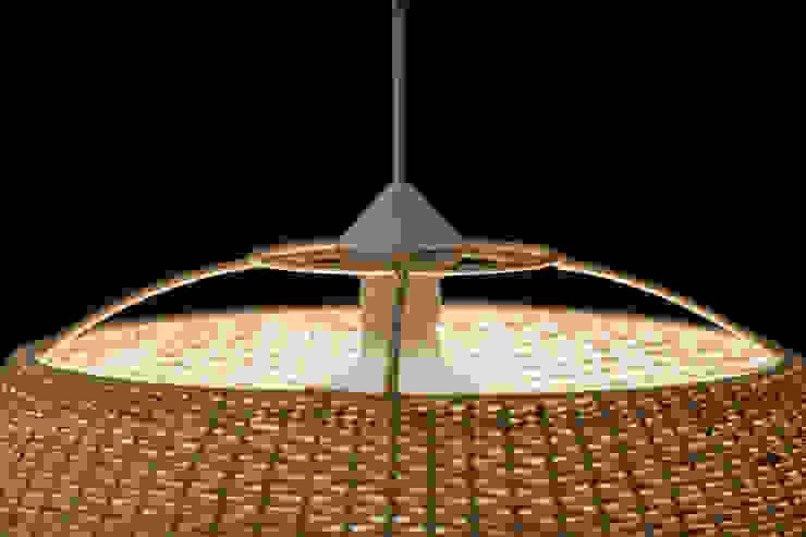Lámpara domo de ELMIMBRE Spa - Diseño, Fabricación y Comercialización de productos en Mimbre - Región Metropolitana - Chile Minimalista Ratán/Mimbre Turquesa