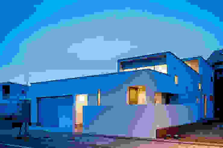 設計事務所アーキプレイス Maisons minimalistes Béton Blanc