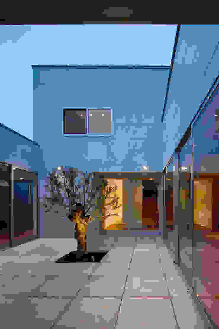 設計事務所アーキプレイス Jardin minimaliste Béton Gris