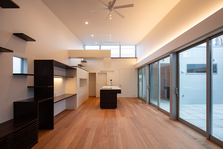 Salas de jantar minimalistas por 設計事務所アーキプレイス Minimalista