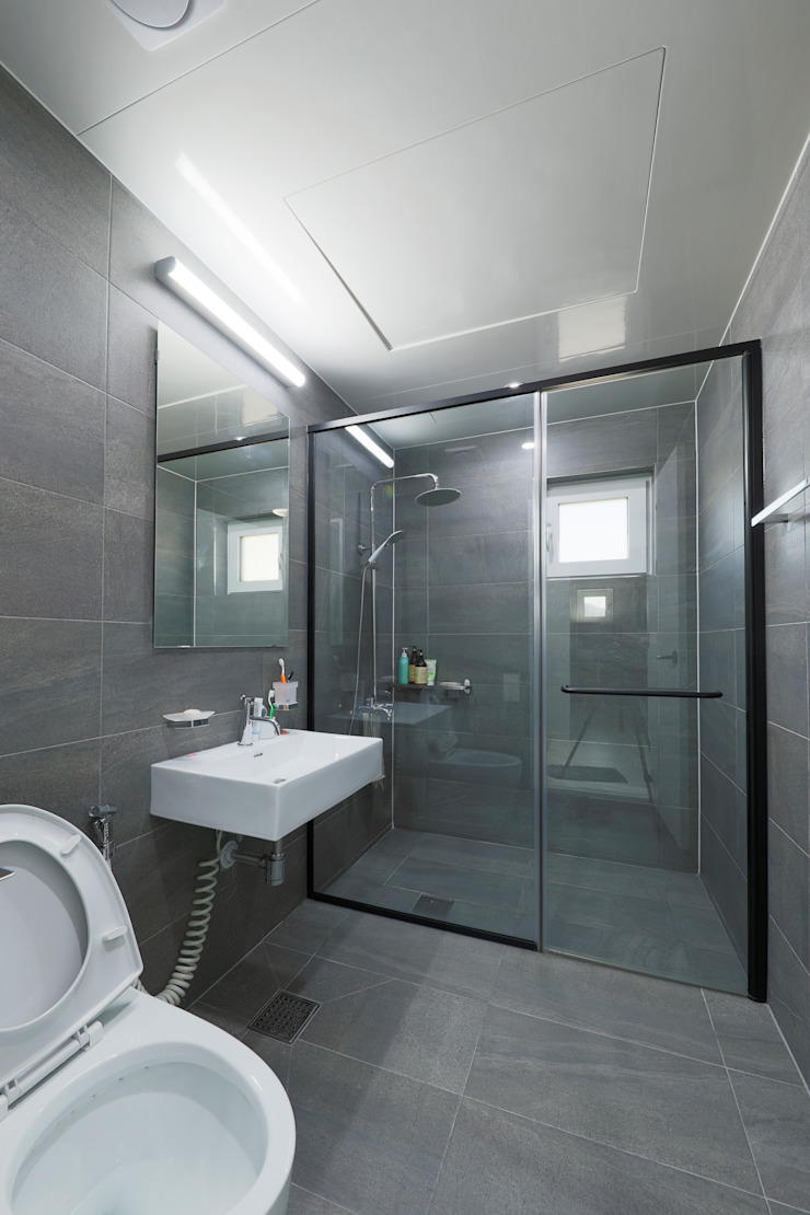 양평 문호리 단층주택 모던스타일 욕실 by 바른주택 모던