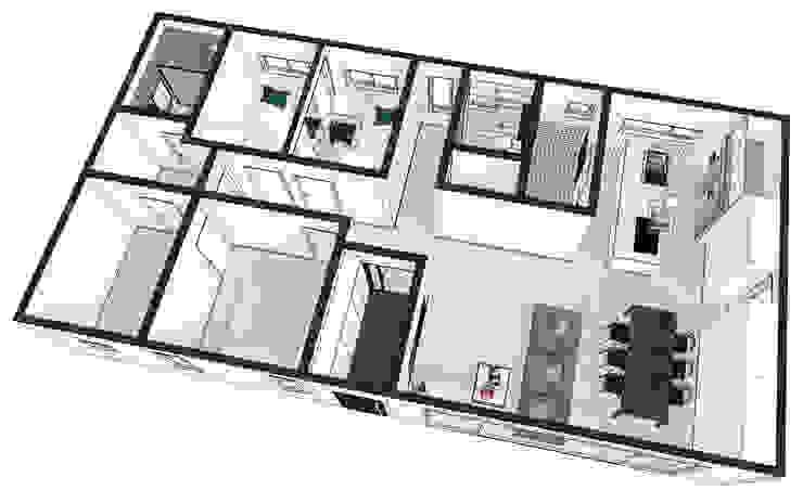 양평 문호리 단층주택: 바른주택의 현대 ,모던