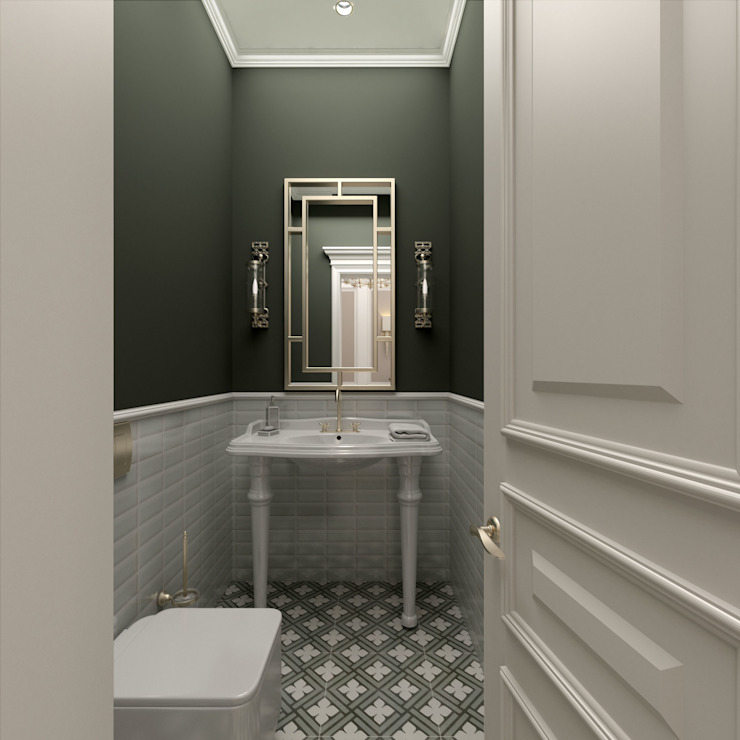 WC / Bilgah Villa Eklektik Banyo Sia Moore Archıtecture Interıor Desıgn Eklektik Seramik