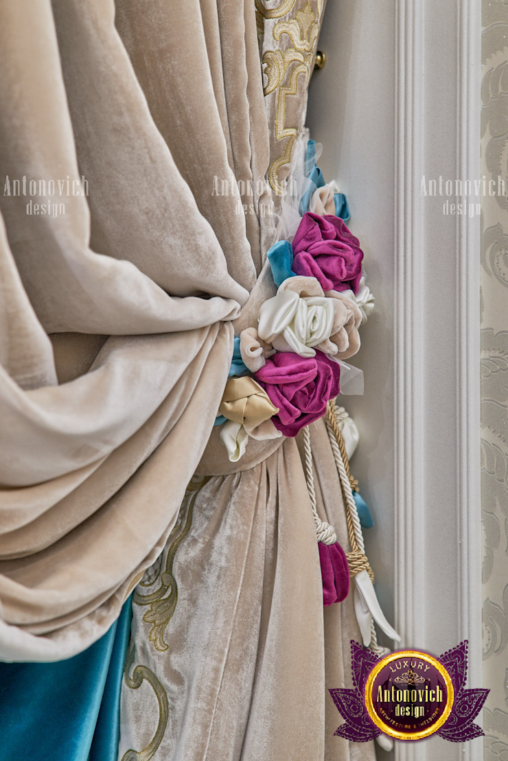 Elegant Curtain Design For Multiple Rooms by Luxury Antonovich Design