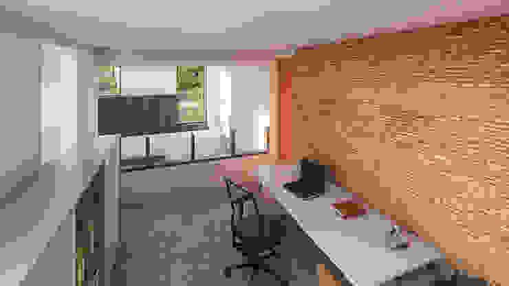 PROYECTO DE DISEÑO DE VIVIENDA EN EL ESTADO DE OAXACA AM ARQUITECTOS Estudios y despachos minimalistas Ladrillos Naranja