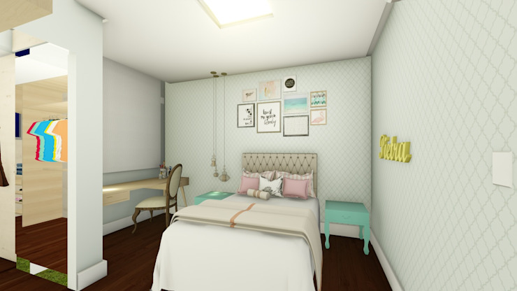Girls Bedroom by Joana Rezende Arquitetura e Arte