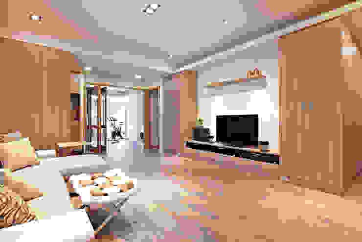 스칸디나비아 거실 by 耀昀創意設計有限公司/Alfonso Ideas 북유럽