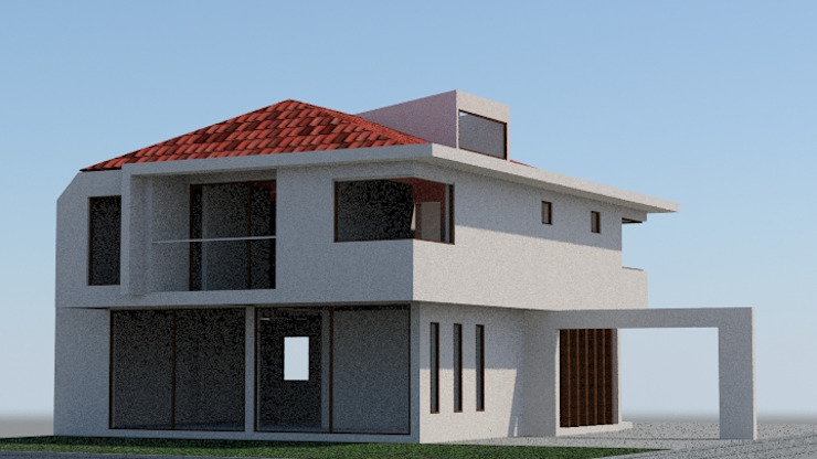 Imagen Objetivo Casas estilo moderno: ideas, arquitectura e imágenes de MSGARQ Moderno
