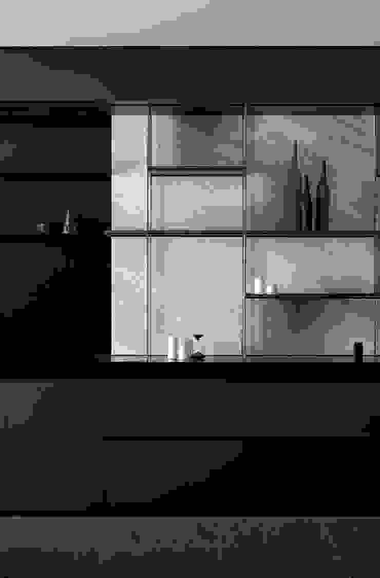 台北W宅 现代客厅設計點子、靈感 & 圖片 根據 淬山設計 Cui Shan 現代風