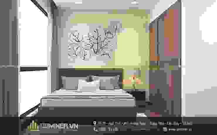 Phòng ngủ khách bởi Thiết kế - Nội thất - Dominer
