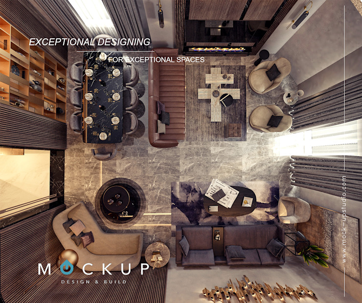 Mockup studio Modern living room