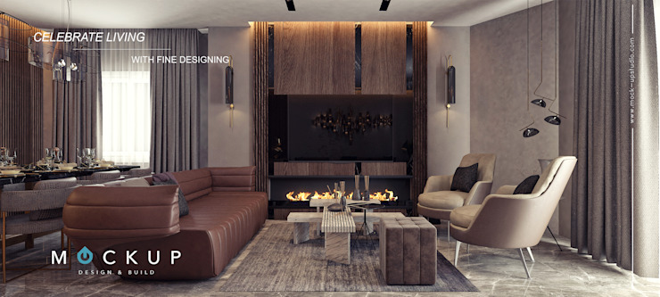 Modern living room by Mockup studio Modern