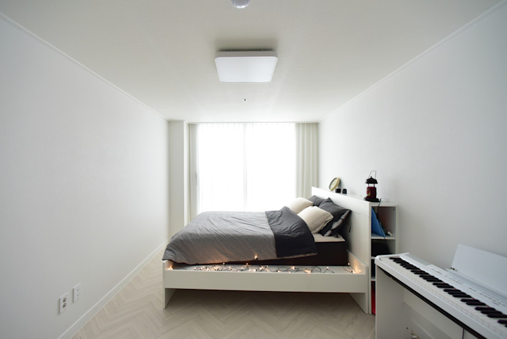 Modern style bedroom by 누보인테리어디자인 Modern
