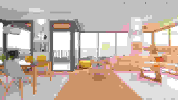 Sunsetpark Kalamış bukalemun mimarlık Modern Oturma Odası