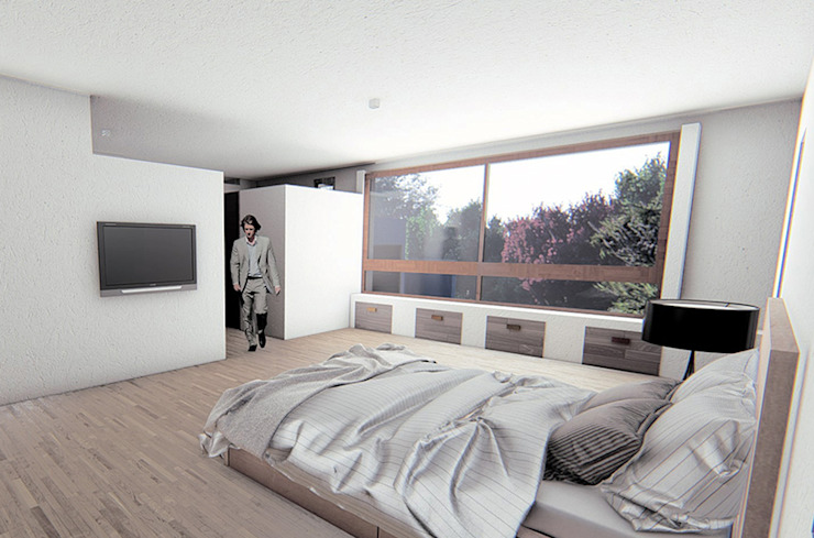 Mediterranean style bedroom by RAS Arquitectos Mediterranean