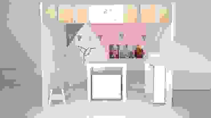 Ruang Studi/Kantor Minimalis Oleh Kaizen diseño interior Minimalis Kayu Buatan Transparent