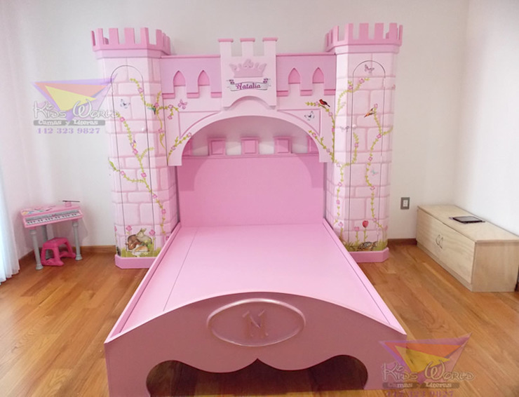 Hermosa recamara para princesas de camas y literas infantiles kids world Clásico Derivados de madera Transparente