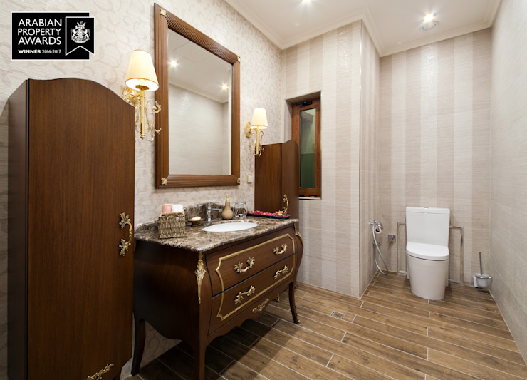 FF-Bathroom / Private Villa Classic style bathroom by Sia Moore Archıtecture Interıor Desıgn Classic Wood Wood effect