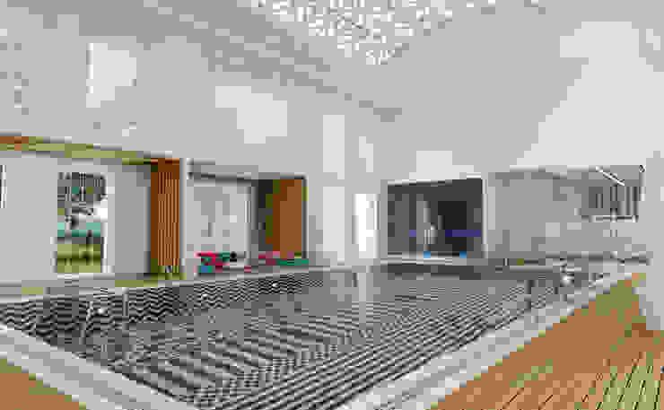 Havuz / Club House Sia Moore Archıtecture Interıor Desıgn Yüzme göleti Seramik Siyah