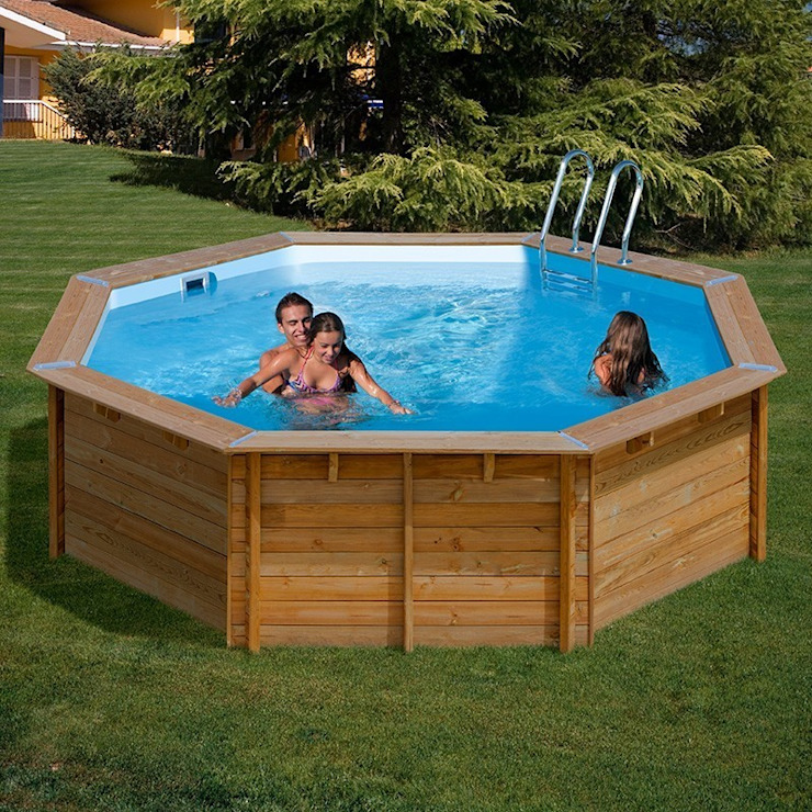 Garden Pool by Outlet Piscinas, Classic Wood Wood effect