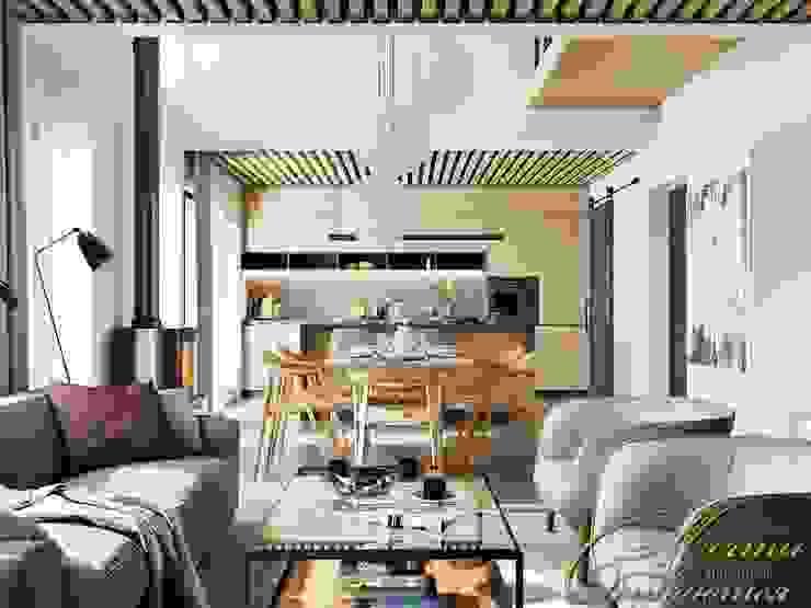 Dream dom: гостиная Гостиная в стиле минимализм от Компания архитекторов Латышевых 'Мечты сбываются' Минимализм