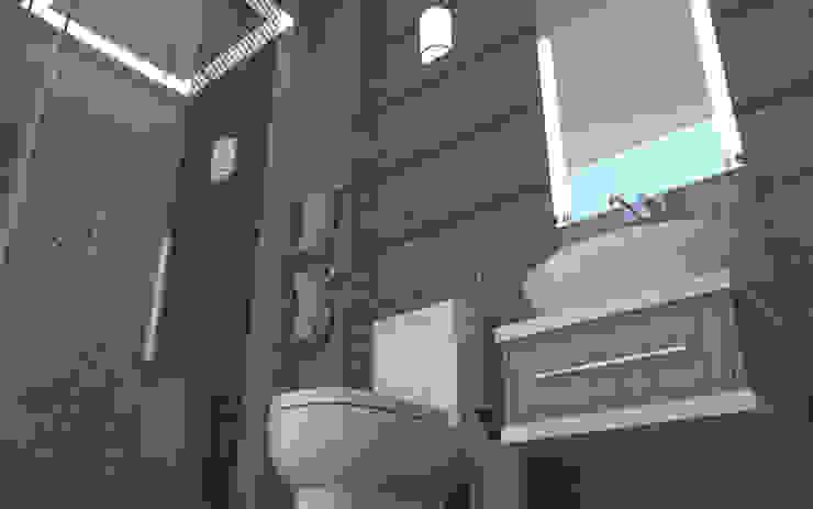 Baño 3d: Baños de estilo  por baymac, Minimalista