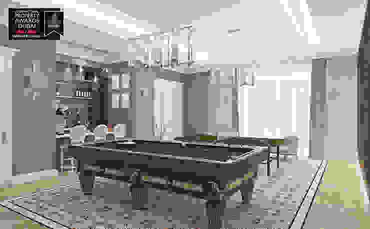 Billard Room / Sitak Villa Sia Moore Archıtecture Interıor Desıgn Classic style living room Marble Multicolored