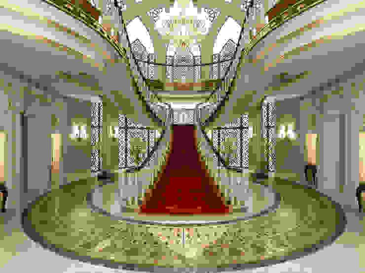 Entrance / Pearl Palace Pasillos, vestíbulos y escaleras de estilo clásico de Sia Moore Archıtecture Interıor Desıgn Clásico Mármol