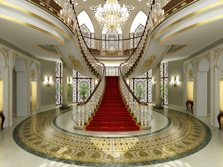 Entrance / Pearl Palace Klasyczny korytarz, przedpokój i schody od Sia Moore Archıtecture Interıor Desıgn Klasyczny Marmur