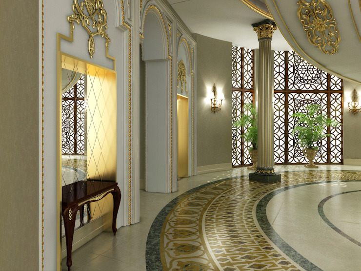 Corridor / Pearl Palace Classic style corridor, hallway and stairs by Sia Moore Archıtecture Interıor Desıgn Classic Marble