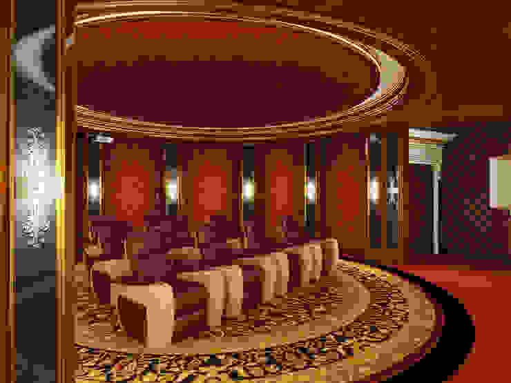 Home Theater Room - 2 / Pearl Palace od Sia Moore Archıtecture Interıor Desıgn Klasyczny Lite drewno Wielokolorowy