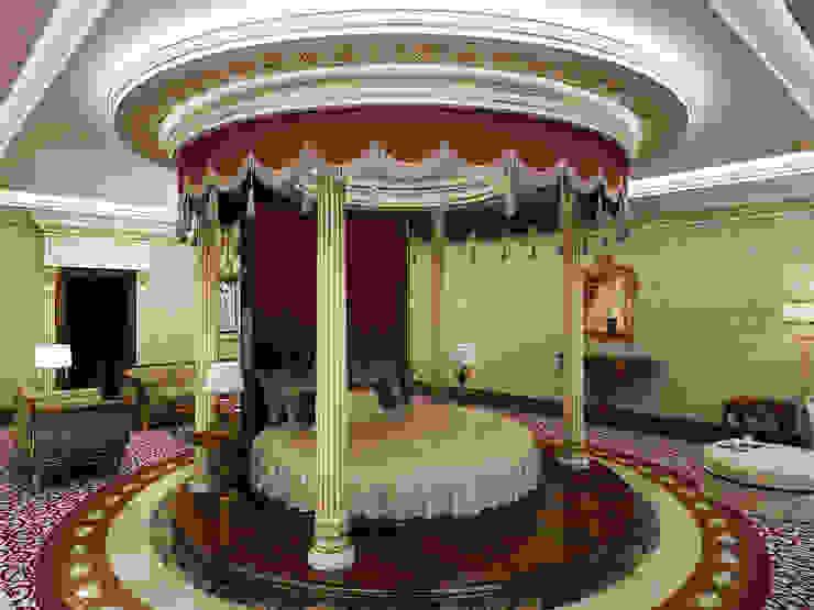 Master Bedroom / Pearl Palace od Sia Moore Archıtecture Interıor Desıgn Klasyczny Marmur