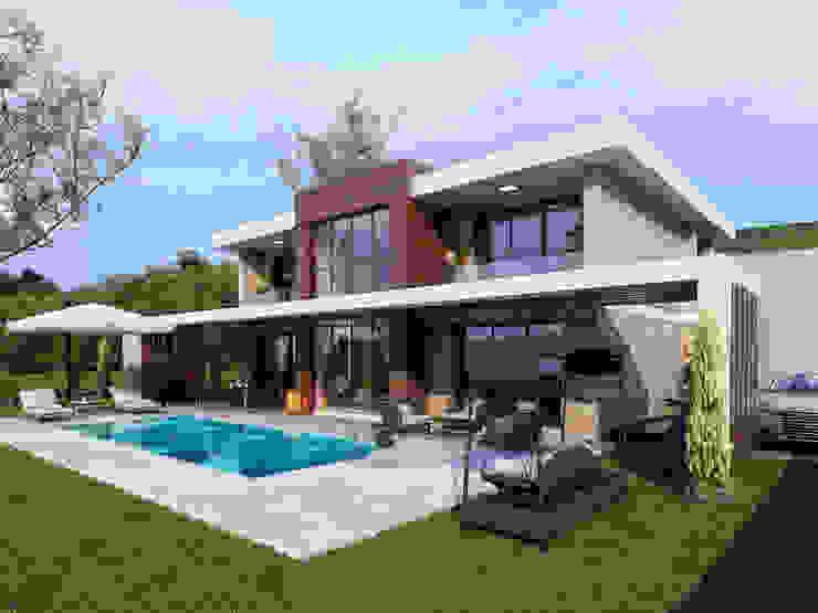 Modern Facade -1 / Hayat Villas by Sia Moore Archıtecture Interıor Desıgn Modern Wood-Plastic Composite